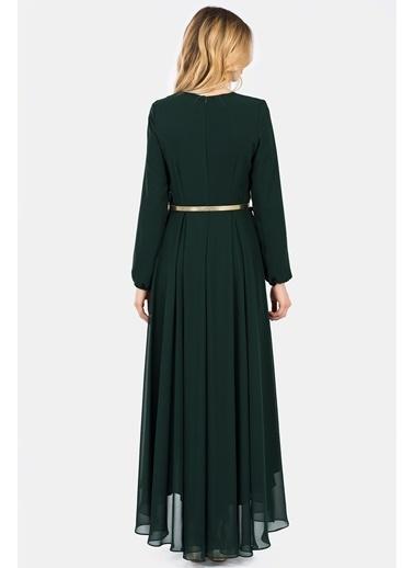 Uzun Şifon Elbise-İroni